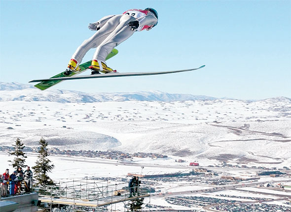 Tremplin ski